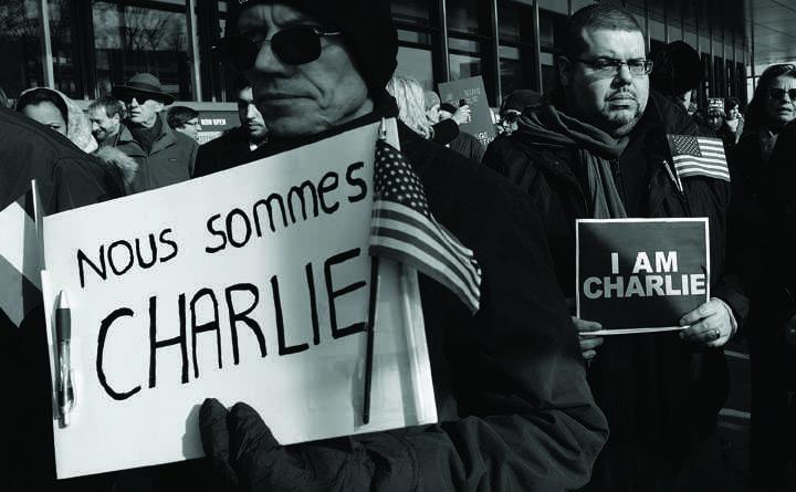 Attack+on+Charlie+Hebdo+magazine+sparks+protests