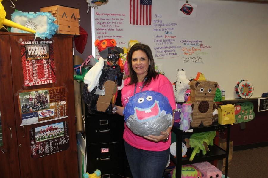 Señora Velazquez's classes create unique piñatas