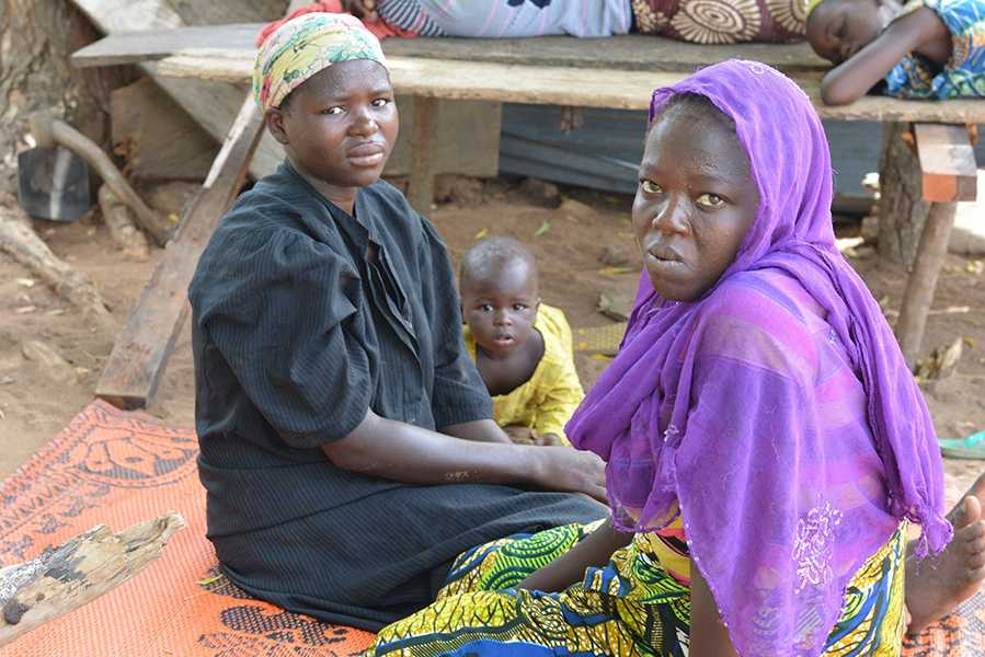 Two refugee women forced to flee their homes in north eastern Nigeria after attacks by the violent Islamist militia, Boko Haram, who fled to Fuga village, central Nigeria, hoping to make a new life. Women were forced to convert to Islam. (Robyn Dixon/Los Angeles Times/MCT)