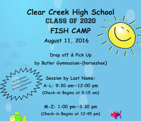 2016-17 Fish Camp on August 11