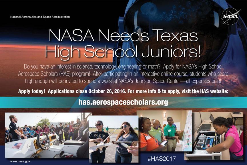Texas+High+School+Aerospace+Scholars+Opportunity