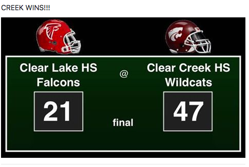Creek wins HOCO game