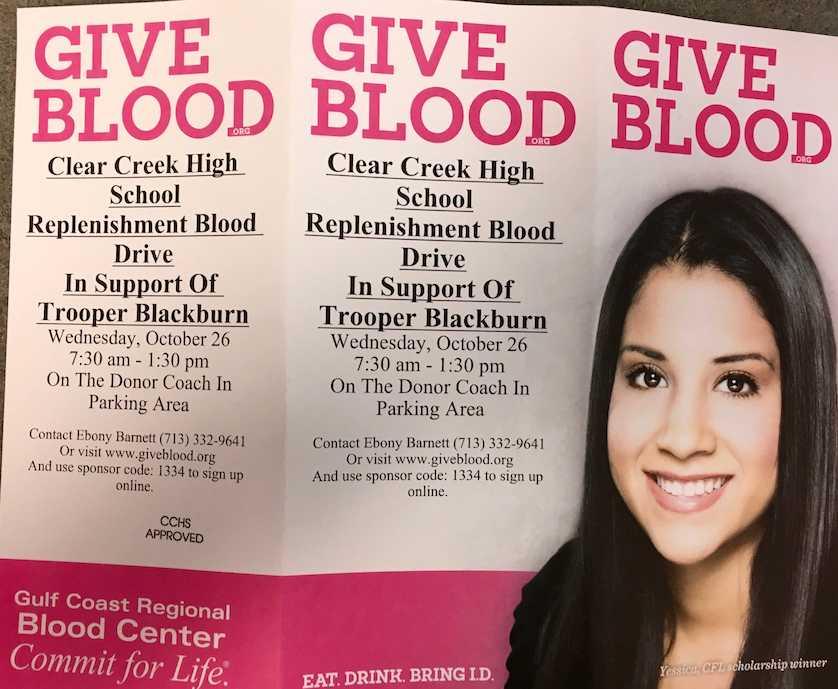 Trooper+Blackburn+Blood+Drive+to+be+held+Oct.+26+at+CREEK
