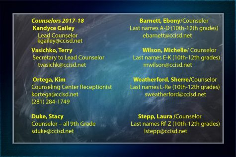 Counseling Center update for 2017-18