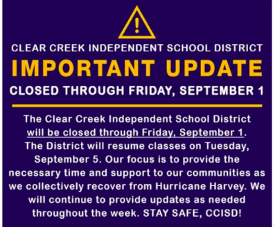CCISD closed through Friday: Reopen Tuesday, Sept. 5