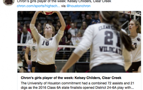 Childers volleyball player of the week:Houston Chronicle