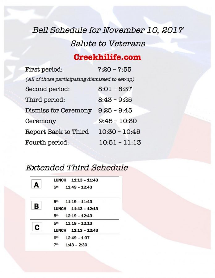 Veterans+Day+Schedule+for+11.10.17