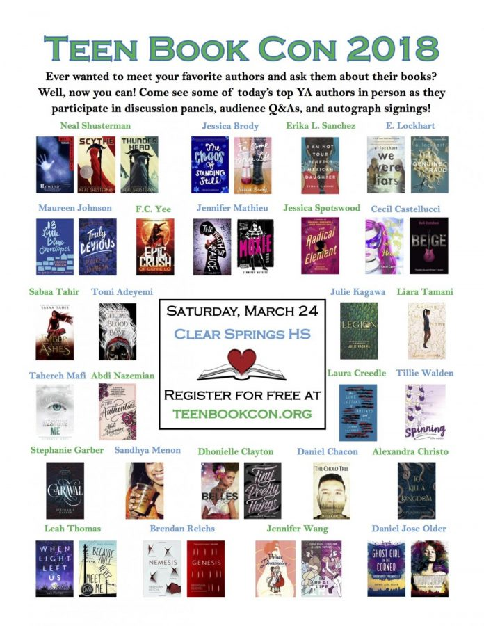 Teen Book Con Coming March 24 At Springs Creek Hilife