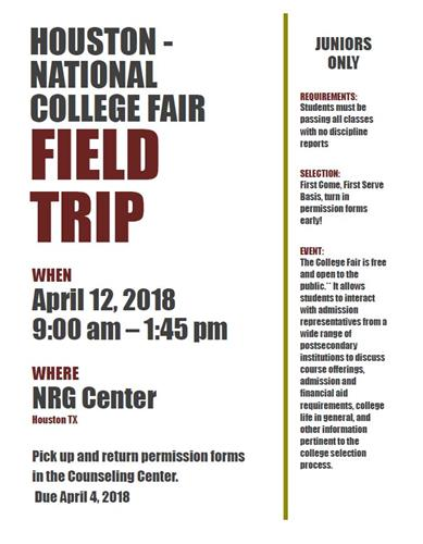Houston-National College Fair Field Trip