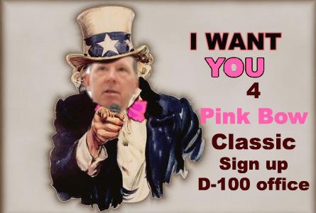 Pink Bow wants YOU Juniors and Seniors
