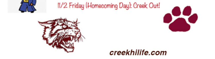 CREEK OUT dress up day