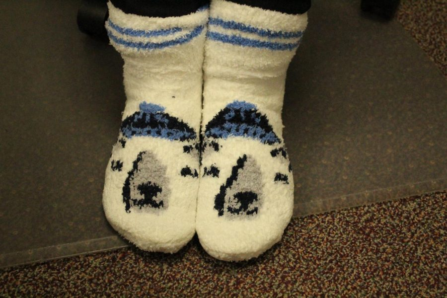 Crazy sock day in remembrance of George H. W. Bush