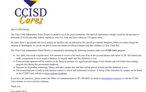 CCISD helps parents affected by government shutdown