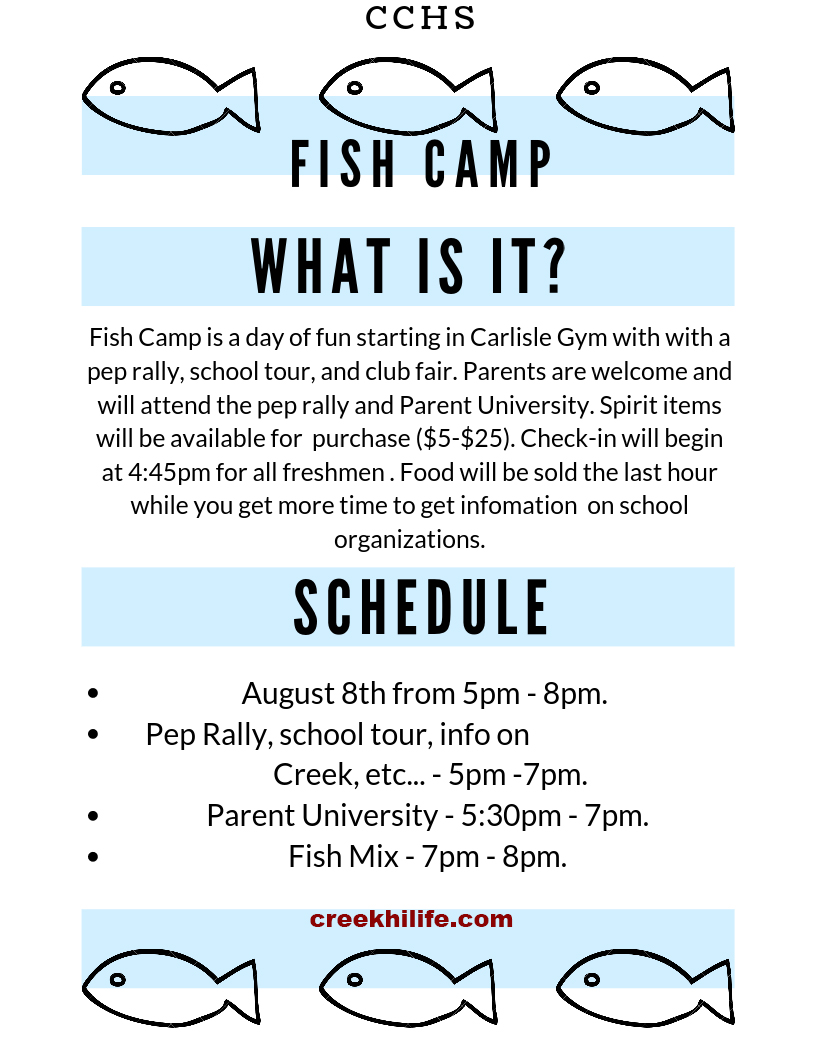 Fish Camp 2019 @ Clear Creek HS