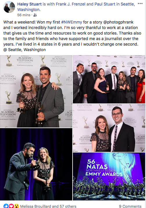 HiLifer Haley Rush wins an Emmy for broadcast news reporting