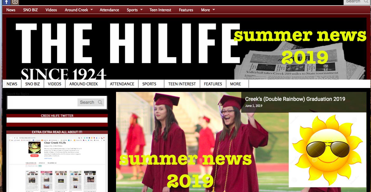 Creek HiLife summer news 2019
