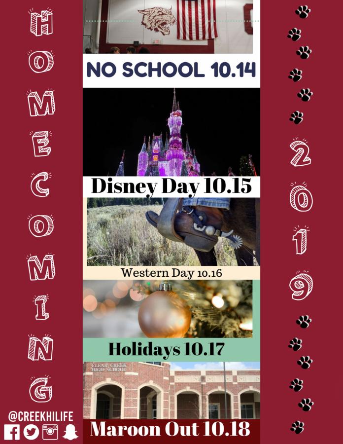 Homecoming+2019+dress-up+days