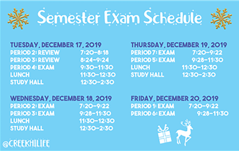 1st Semester Exam Schedule (2019)