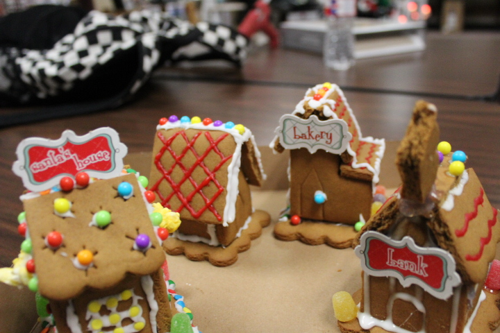 HiLife+third+period+building+Gingerbread+Houses%3AIt+takes+a+village