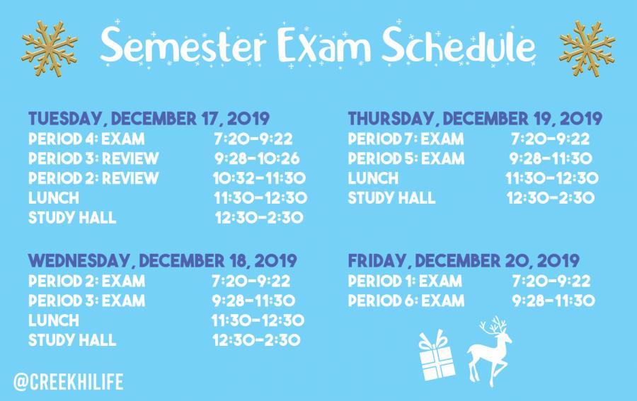 Fall Final Exam schedule-2019