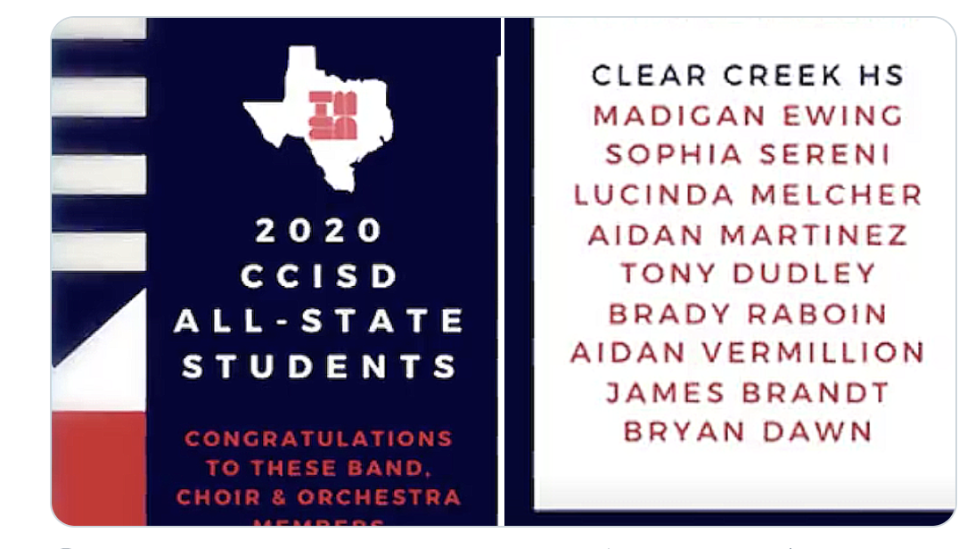 All State Music CCHS 2020