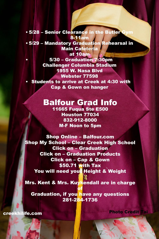 Senior grad info