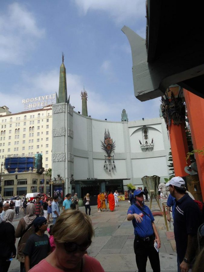 Grauman's Chinese Theatre located in Hollywood, California. Major Hollywood events such as the Oscar's have taken place here.