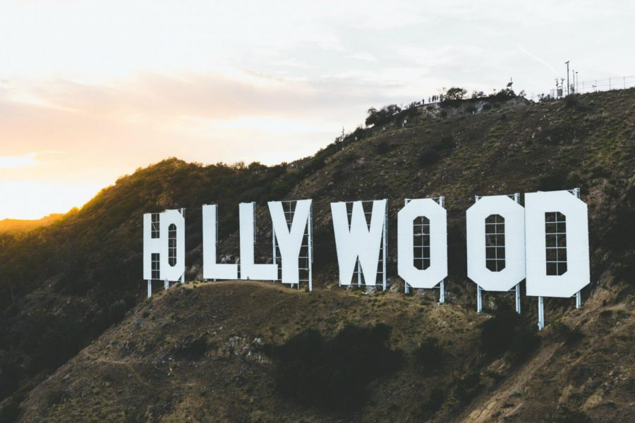 Hollywood sign, located in Los Angeles, California, where a majority of the entertainment industry resides