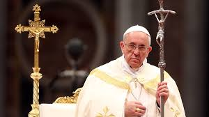 Pope Francis, who conducted a virtual Palm Sunday for this year's mass