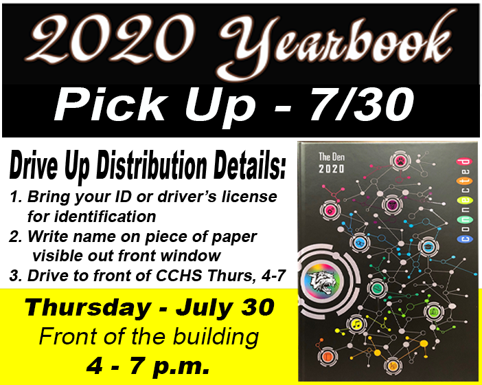 2020 Yearbook pick up (7/30)