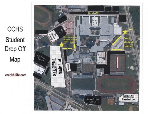 Student drop off map!