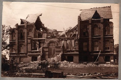 The St. Marys Orphanage after the 1900 Storm.